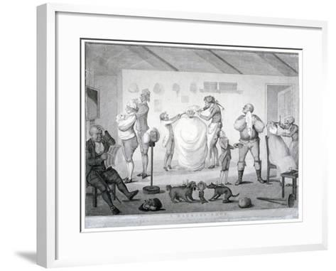 A Barber's Shop, 1784-Henry William Bunbury-Framed Art Print