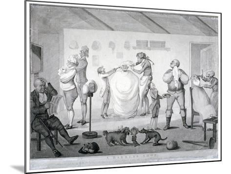A Barber's Shop, 1784-Henry William Bunbury-Mounted Giclee Print