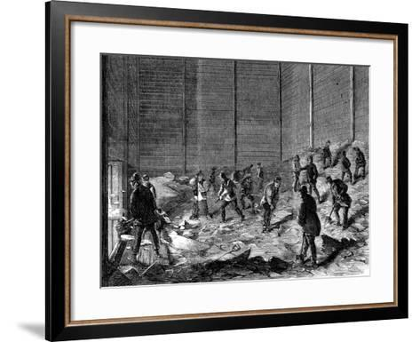 Storing Ice in Insulated Sheds at Charles's Ice Store, Chelsea, London, 1861--Framed Art Print