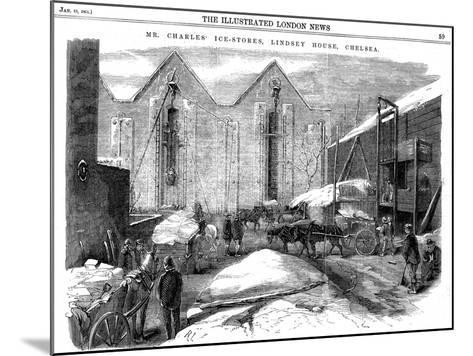 Storing Ice in Insulated Sheds at Charles's Ice Store, Chelsea, London, 1861--Mounted Giclee Print