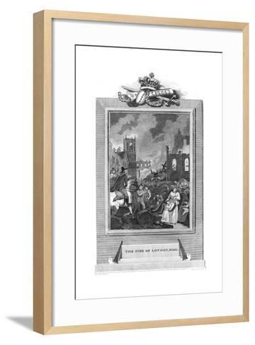 Great Fire of London, 1666--Framed Art Print