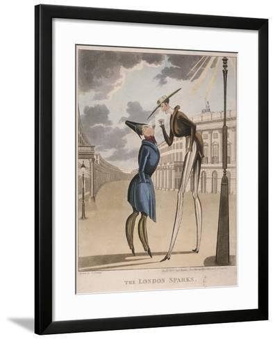 View across Piccadilly Circus Looking Up Regent Street, Westminster, London, 1830-C Perring-Framed Art Print