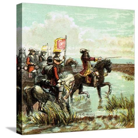The Battle of the Boyne, 1690--Stretched Canvas Print