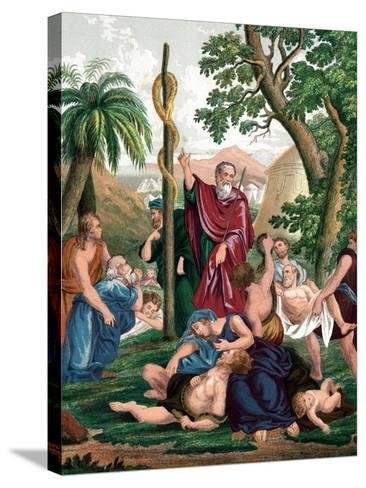 Moses and the Brazen Serpent, C1860--Stretched Canvas Print