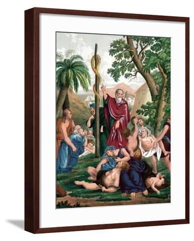 Moses and the Brazen Serpent, C1860--Framed Art Print