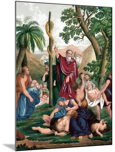 Moses and the Brazen Serpent, C1860--Mounted Giclee Print