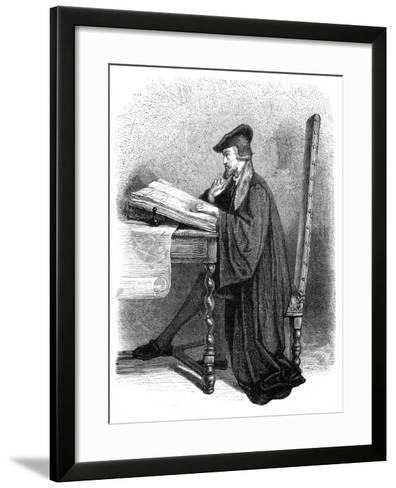 Christopher Columbus, Genoese Navigator and Explorer--Framed Art Print