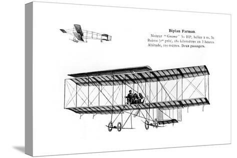 Farman Biplane, 20th Century--Stretched Canvas Print