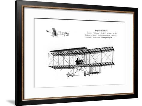 Farman Biplane, 20th Century--Framed Art Print