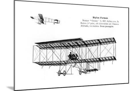 Farman Biplane, 20th Century--Mounted Giclee Print