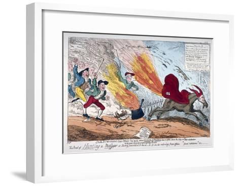 Hunting a Mare, 1819-George Cruikshank-Framed Art Print