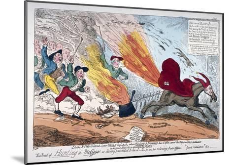Hunting a Mare, 1819-George Cruikshank-Mounted Giclee Print