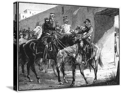 Dr Brydon Arriving at Jelalabad with News of British Deaths, First Anglo-Afghan War, 1842--Stretched Canvas Print