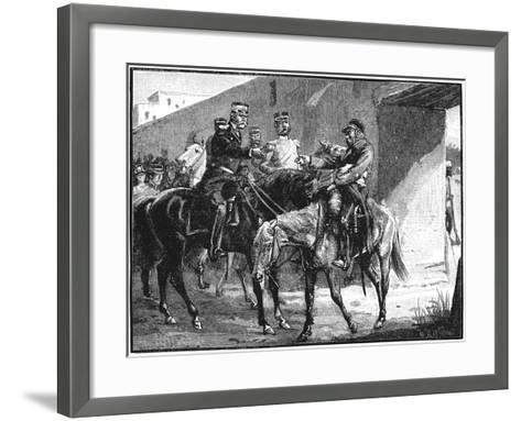 Dr Brydon Arriving at Jelalabad with News of British Deaths, First Anglo-Afghan War, 1842--Framed Art Print