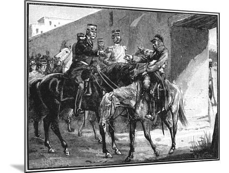 Dr Brydon Arriving at Jelalabad with News of British Deaths, First Anglo-Afghan War, 1842--Mounted Giclee Print