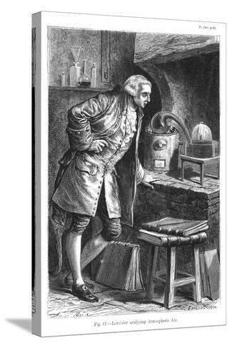 Antoine Laurent Lavoisier, French Chemist, Investigating the Existence of Oxygen in the Air, 1873--Stretched Canvas Print