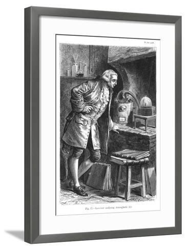 Antoine Laurent Lavoisier, French Chemist, Investigating the Existence of Oxygen in the Air, 1873--Framed Art Print