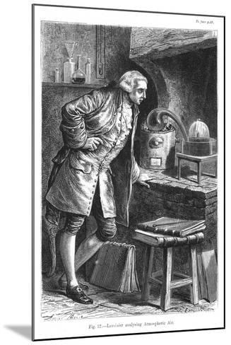 Antoine Laurent Lavoisier, French Chemist, Investigating the Existence of Oxygen in the Air, 1873--Mounted Giclee Print