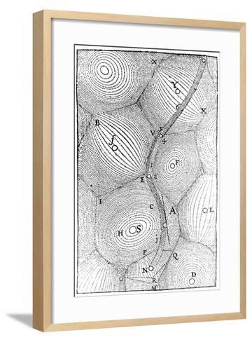 Rene Descartes Model of the Structure of the Universe, 1668--Framed Art Print