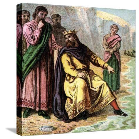 Canute and His Courtiers, 11th Century--Stretched Canvas Print
