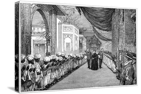The Queen's Visit at the Opening of the Indian and Colonial Exhibition, London, 1886--Stretched Canvas Print