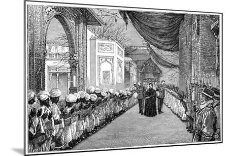 The Queen's Visit at the Opening of the Indian and Colonial Exhibition, London, 1886--Mounted Giclee Print