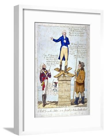 A Hint for Another Statue - Or, a Sketch of a Modern Weather Cock, 1804-Isaac Cruikshank-Framed Art Print