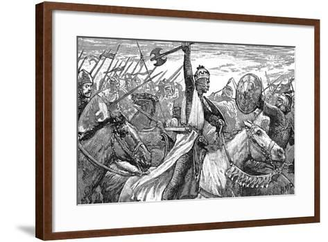 Charles Martel, King of the Franks, at the Battle of Poitiers, 732--Framed Art Print