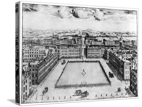 Hanover Square, London, 18th Century--Stretched Canvas Print