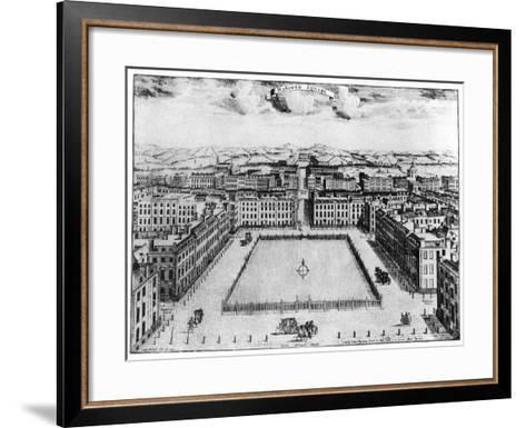 Hanover Square, London, 18th Century--Framed Art Print