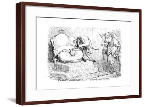 The York Reverence or City Loyalty, Amply Rewarded, 1796-James Gillray-Framed Art Print