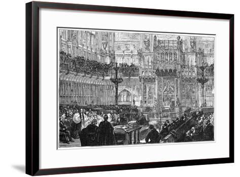The Bishop of Peterborough Addressing the House of Lords, Mid-Late 19th Century--Framed Art Print