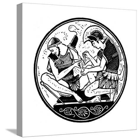 Achilles Bandaging the Wound of Patroclus, C1900--Stretched Canvas Print