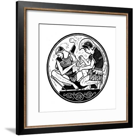 Achilles Bandaging the Wound of Patroclus, C1900--Framed Art Print