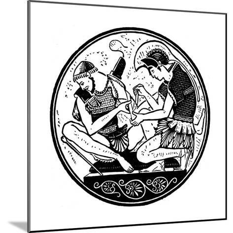 Achilles Bandaging the Wound of Patroclus, C1900--Mounted Giclee Print