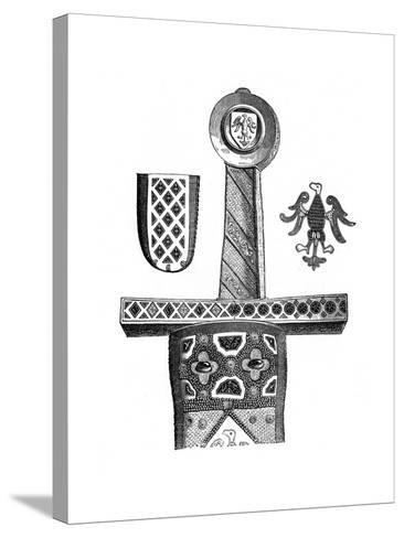 Sword of Charlemagne, C8th Century--Stretched Canvas Print