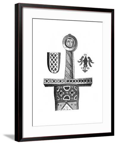 Sword of Charlemagne, C8th Century--Framed Art Print