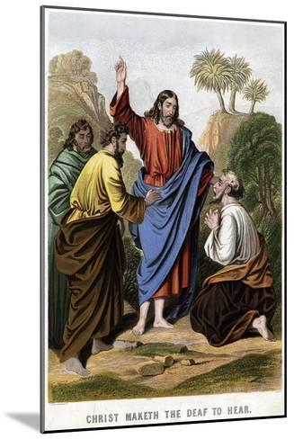 Christ Maketh the Deaf to Hear, 1860-Kronheim & Co-Mounted Giclee Print