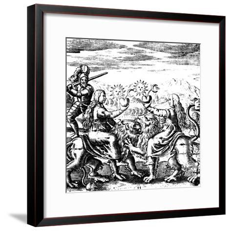 The Eleventh Key of Basil Valentine, Legendary 15th Century German Monk and Alchemist, 1651--Framed Art Print