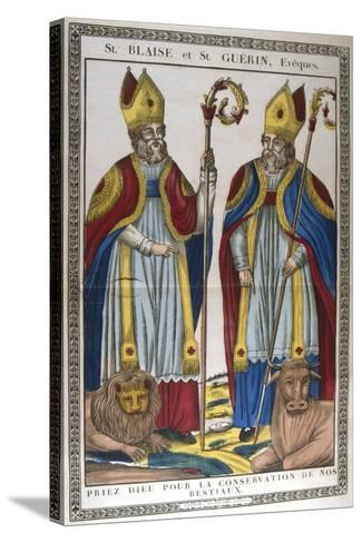 St Blaise and St Guerin, 19th Century--Stretched Canvas Print