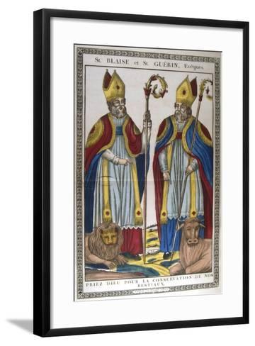 St Blaise and St Guerin, 19th Century--Framed Art Print