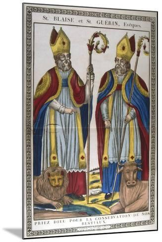 St Blaise and St Guerin, 19th Century--Mounted Giclee Print