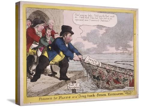 Fishing for Flats or a Drag from the Stock Exchange, 1806-C Williams-Stretched Canvas Print