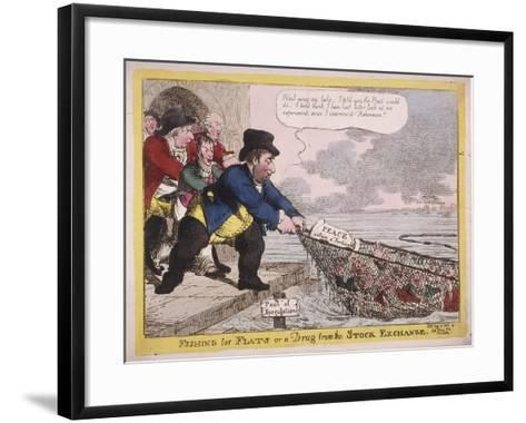 Fishing for Flats or a Drag from the Stock Exchange, 1806-C Williams-Framed Art Print