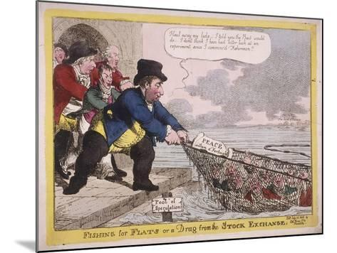 Fishing for Flats or a Drag from the Stock Exchange, 1806-C Williams-Mounted Giclee Print