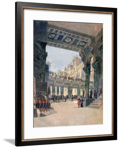 Scene Two, Act Two, from the Opera Le Mage, by Jules Massenet, 1891--Framed Art Print