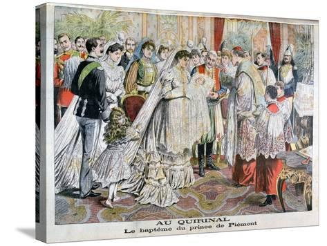 The Baptism of the Prince of Piedmont, Quirinal Palace, Rome, 1904--Stretched Canvas Print