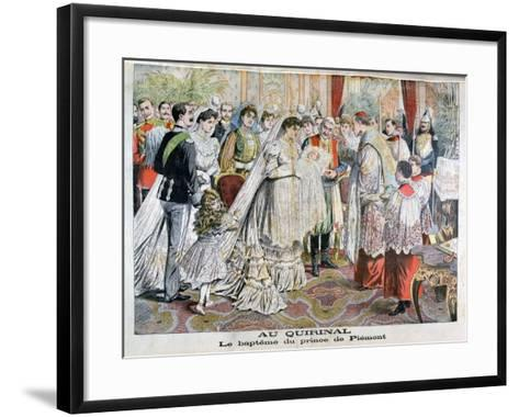 The Baptism of the Prince of Piedmont, Quirinal Palace, Rome, 1904--Framed Art Print