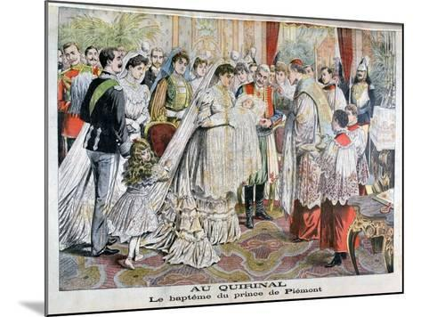 The Baptism of the Prince of Piedmont, Quirinal Palace, Rome, 1904--Mounted Giclee Print