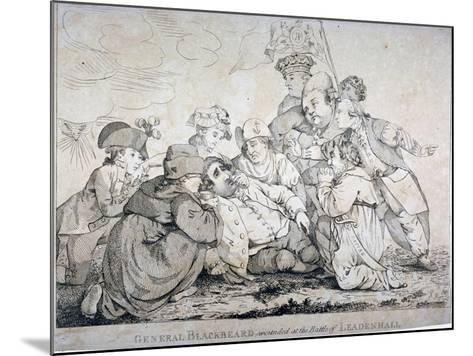 General Blackbeard Wounded at the Battle of Leadenhall, 1784-John Boyne-Mounted Giclee Print